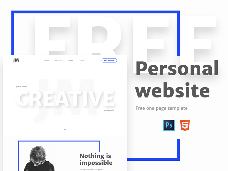 personal-free-one-page-template