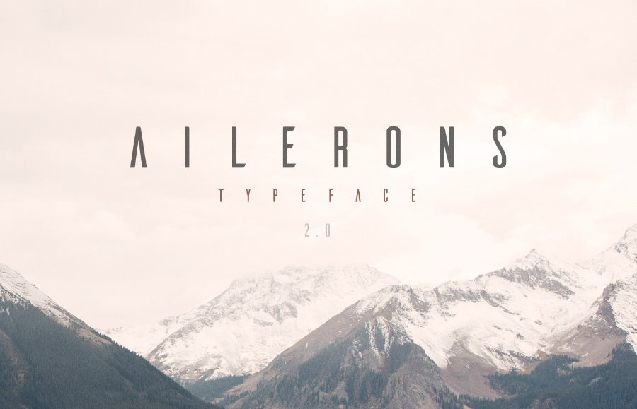 ailerons-display-free-typeface