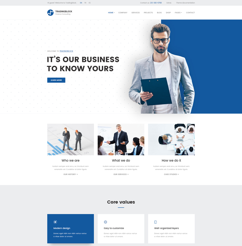 Latest creative website psd templates october 2016 designazure finance business psd template tradingblock 2 wajeb Choice Image