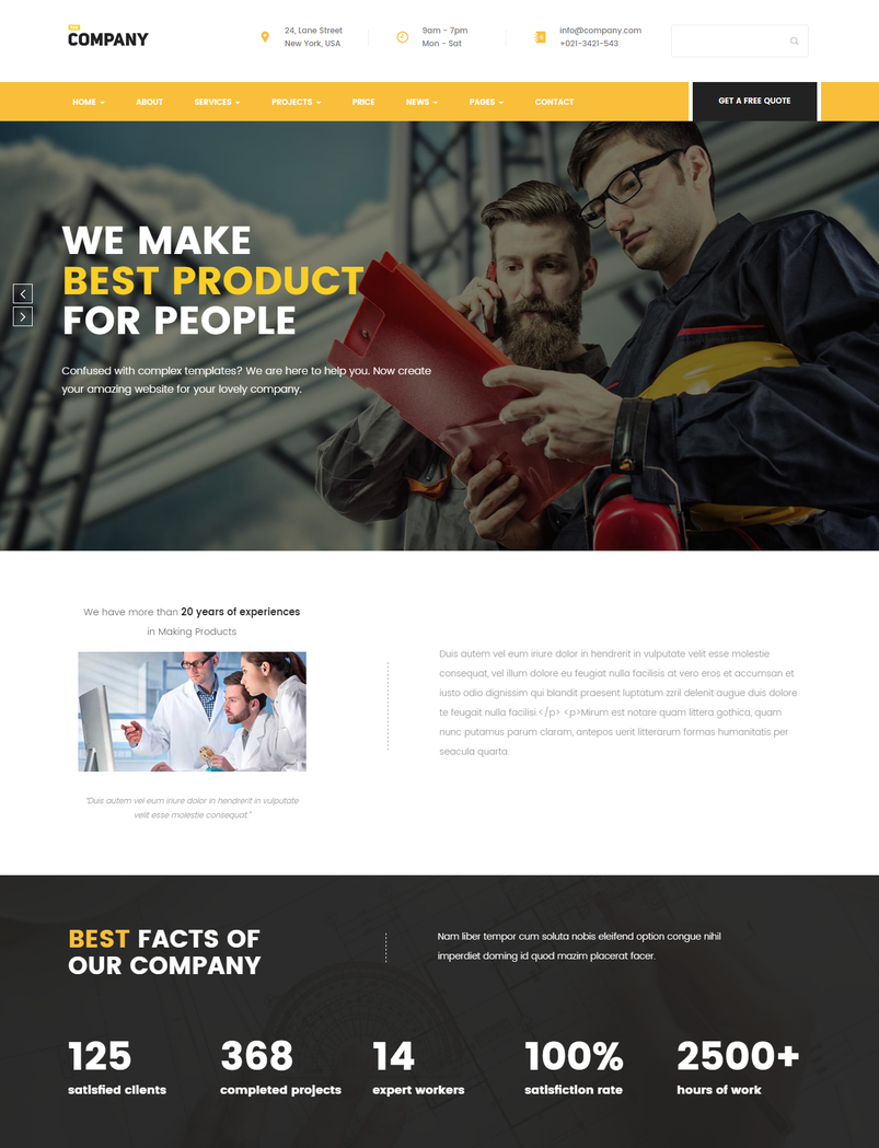 finance-business-wordpress-theme-the-company-2