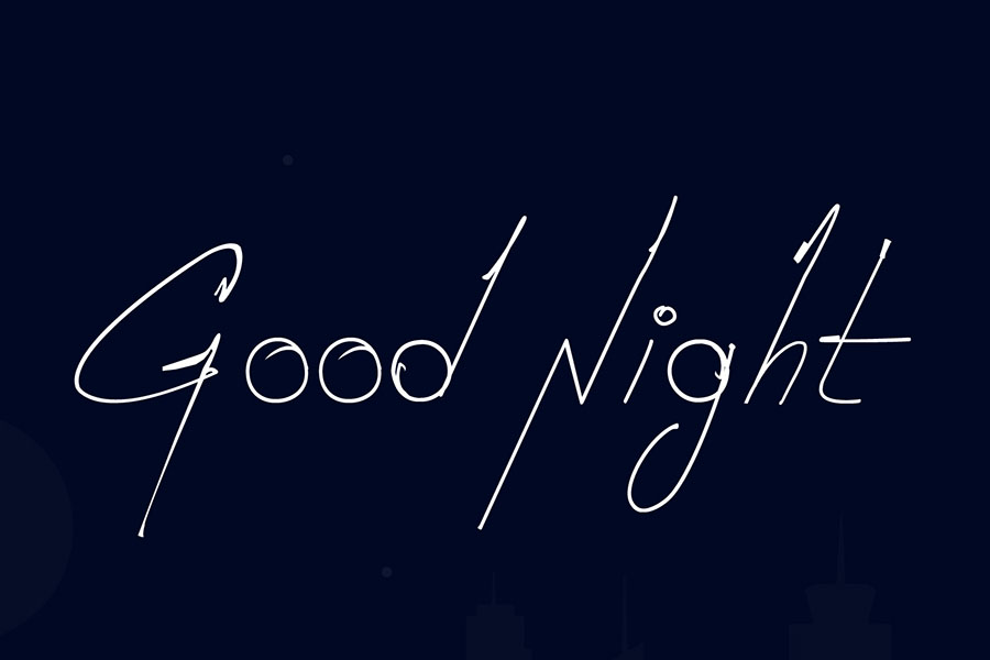 goodnight-free-handwriting-font