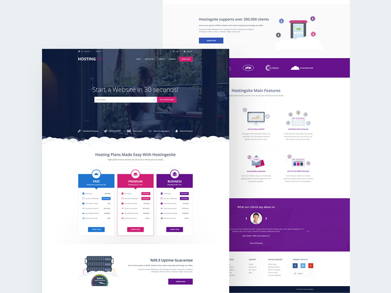 hosting-site-template-freebie