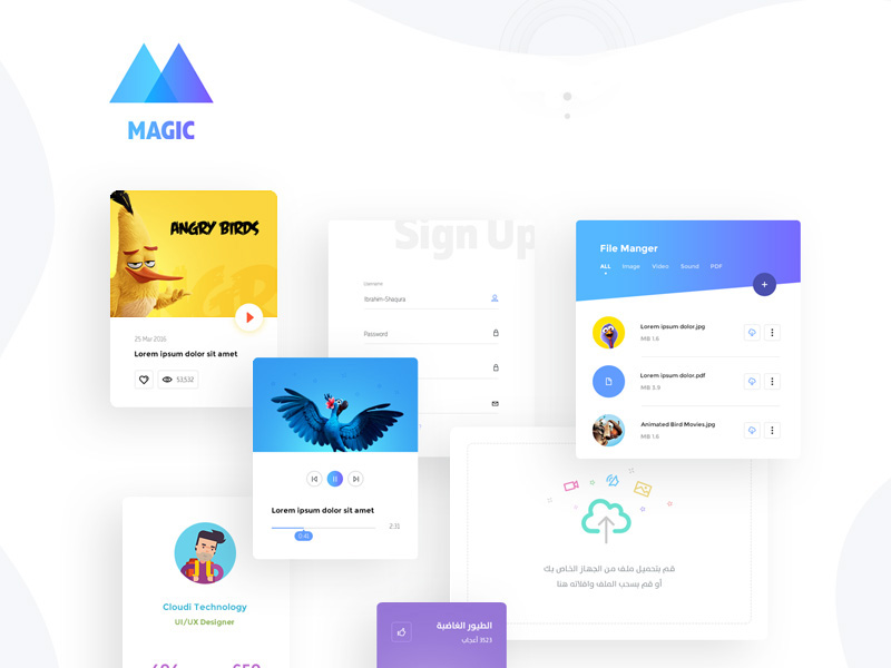 magic-ui-kit-freebie
