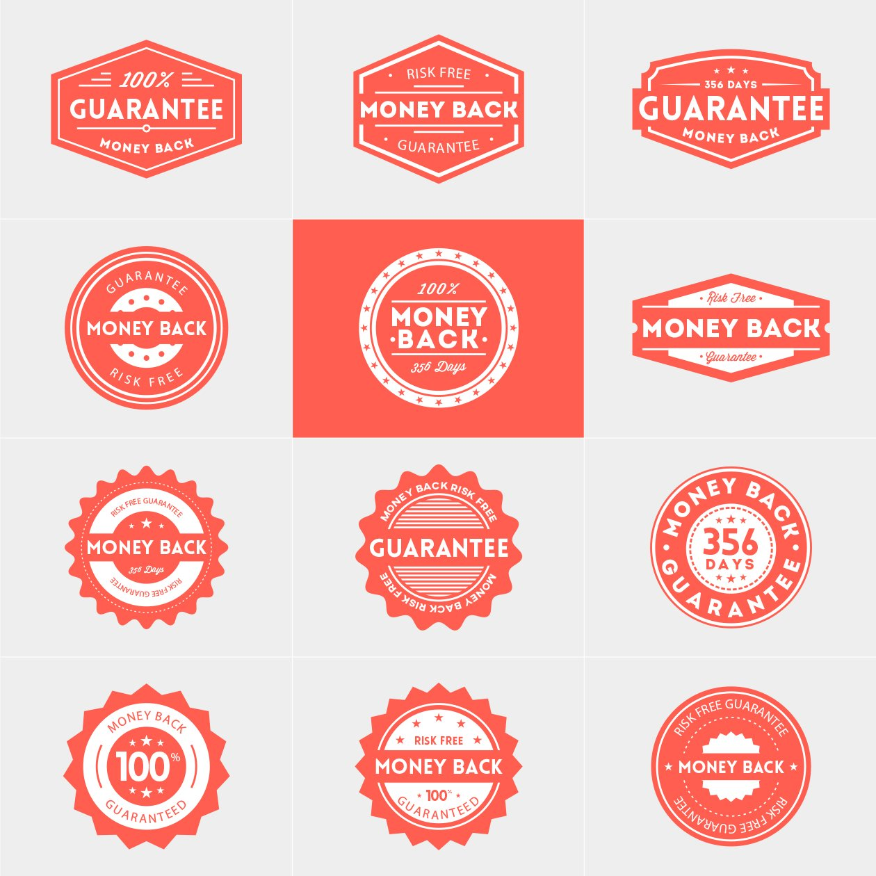 money-back-gurantee-vector-badges
