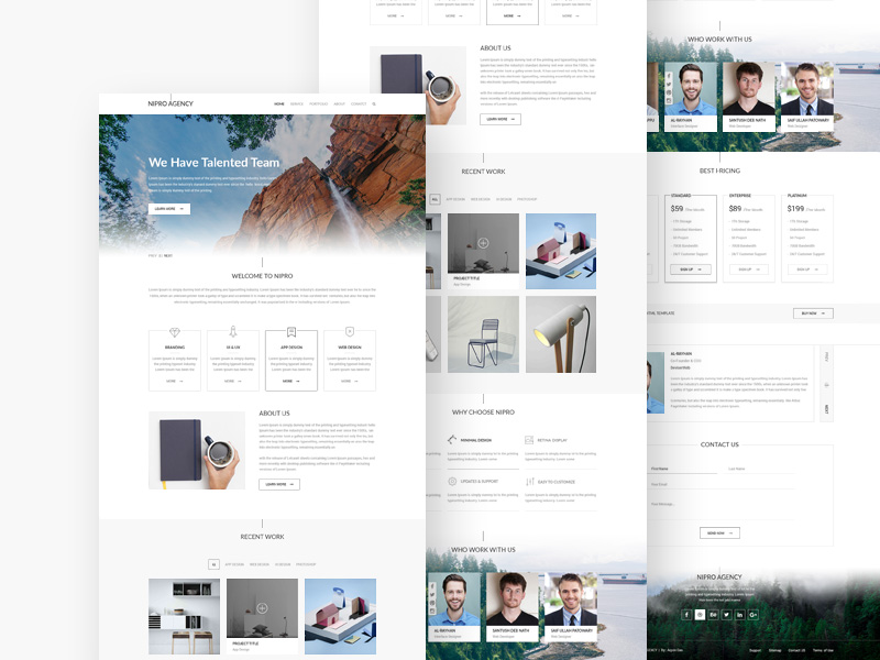 nipro-agency-template-freebie