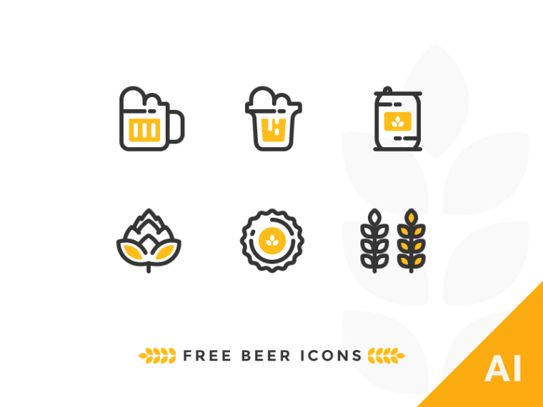 outline-beer-icons-set