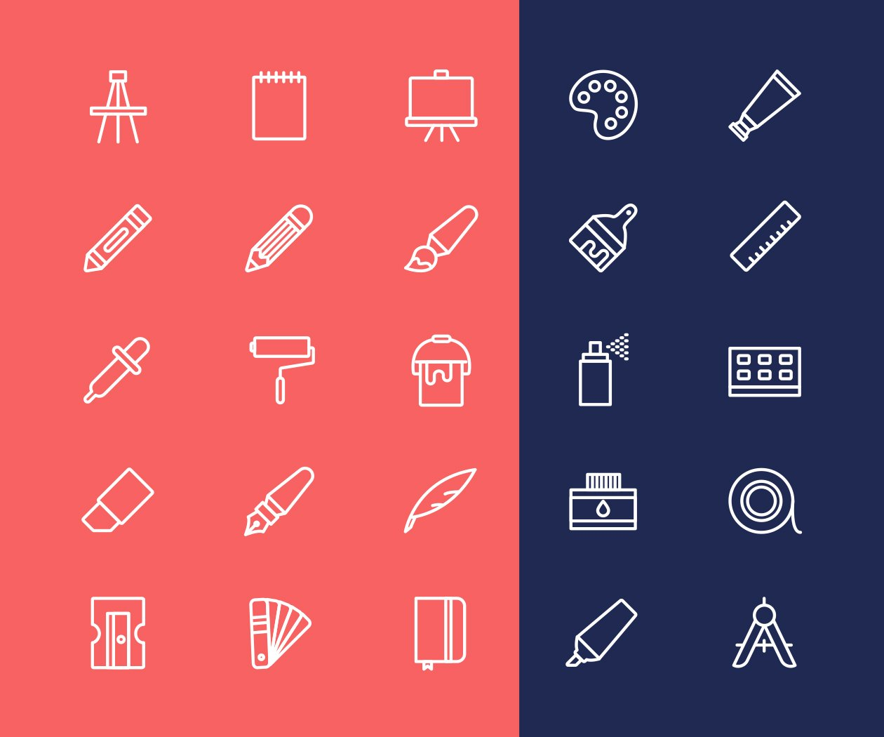 25-line-art-tools-icons-vector