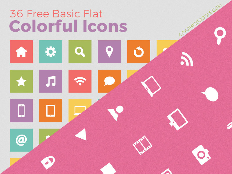 36-free-basic-flat-colorful-icons-2