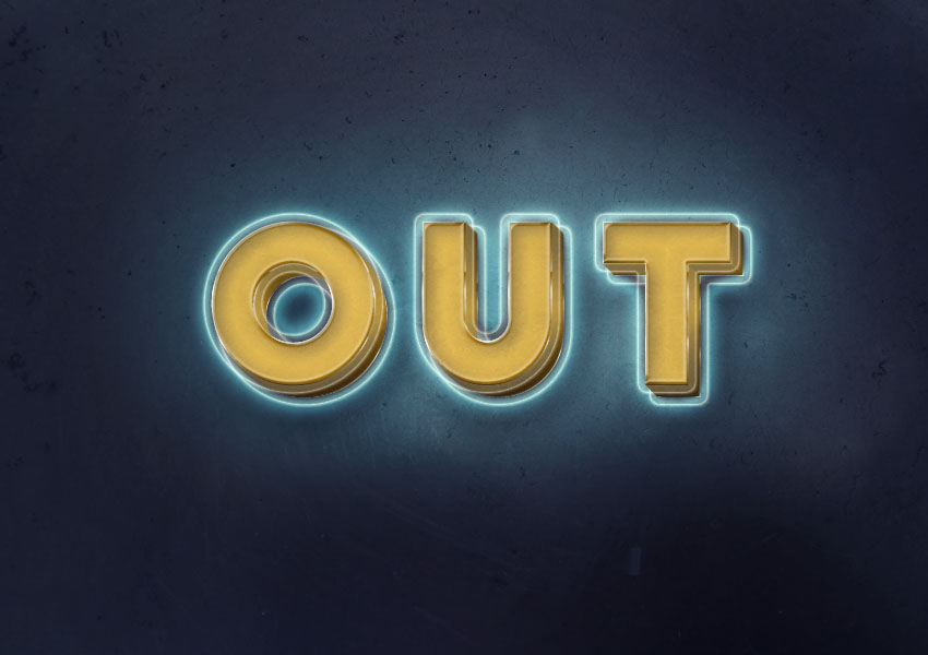 3d-glowing-retro-text-effect
