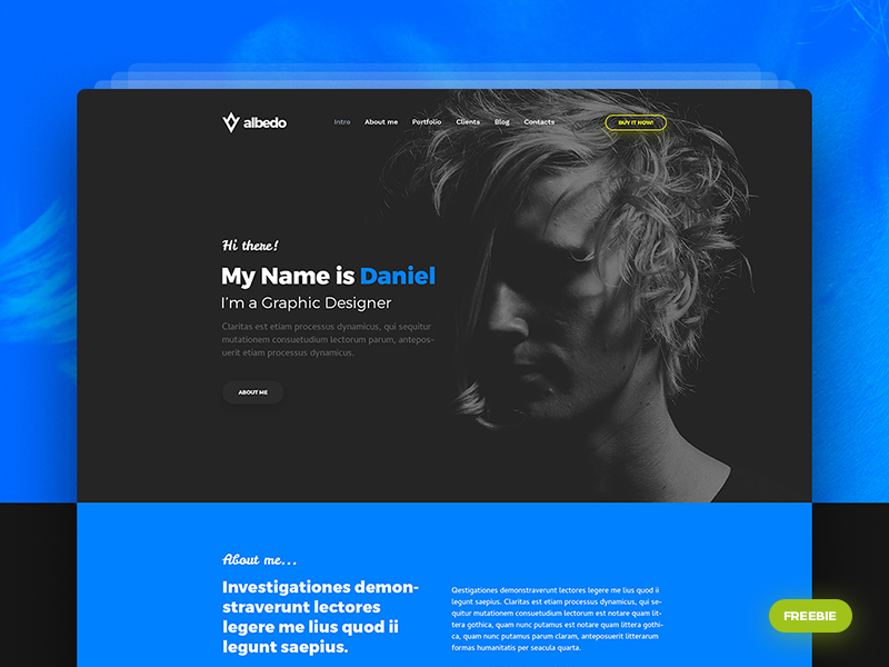 albedo-free-personal-onepager-psd-template