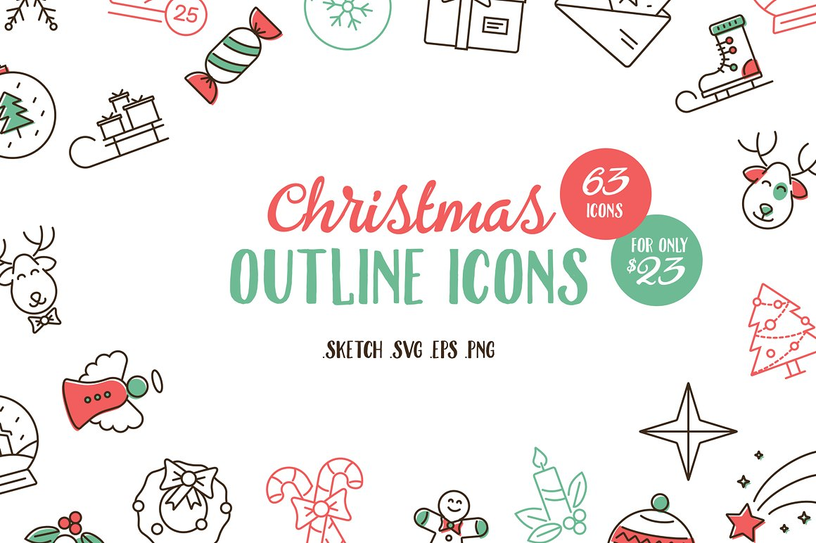 christmas-outline-icons