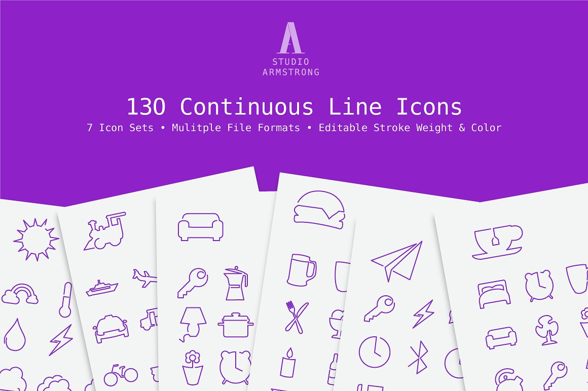 continuous-line-icons