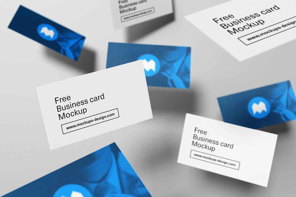 PSD Business Card Mockup Templates | Designazure.com
