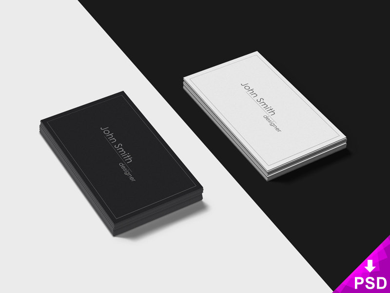 black-and-white-business-cards-mockup