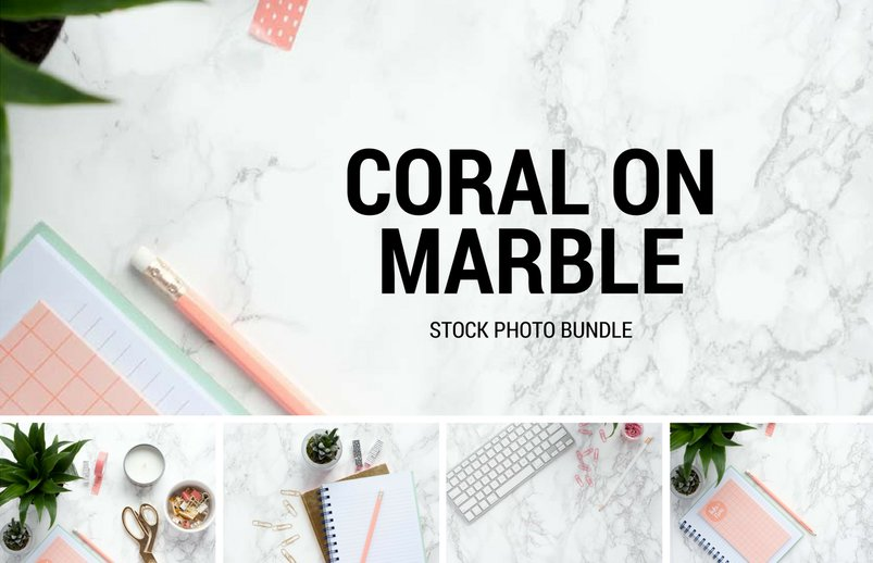 coral-on-marble-stock-photo-bundle-2