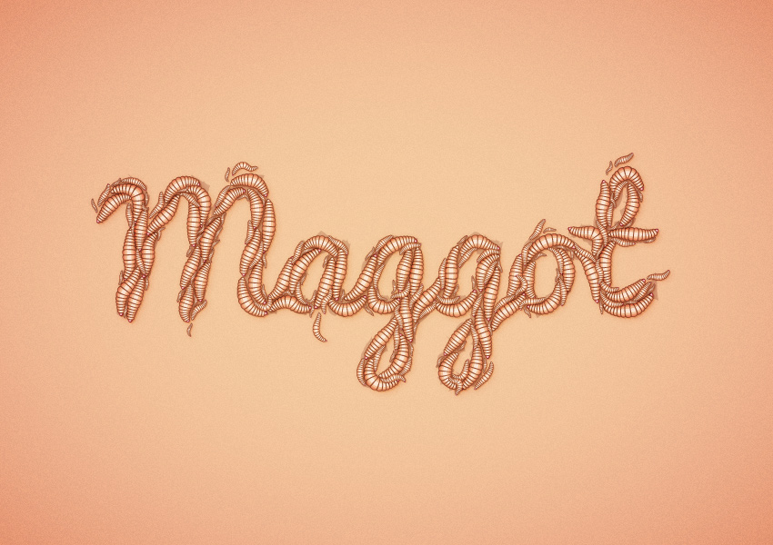 create-a-maggot-text-effect