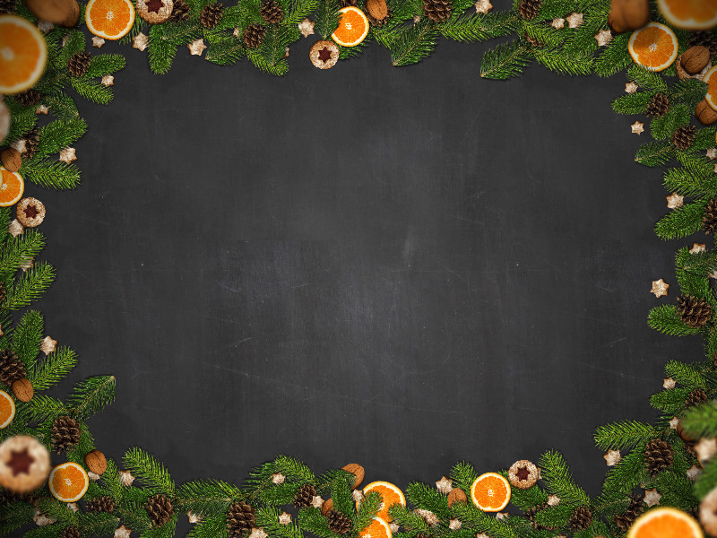free-christmas-border-with-fir-orange-and-cookies-2