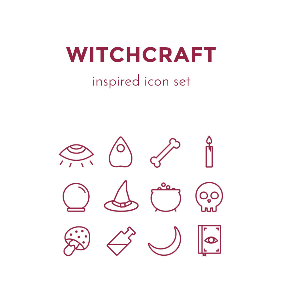 free-witchcraft-vector-icon-set