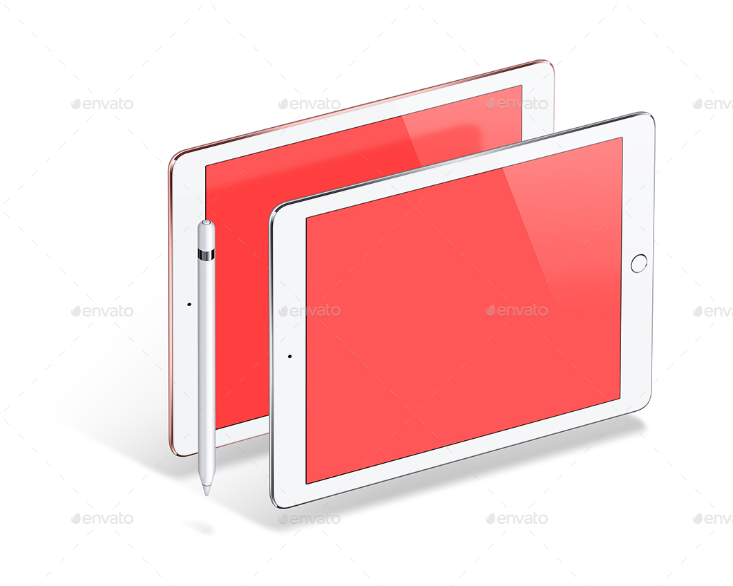pad-pro-97-inch-and-pencil-vector-mockup