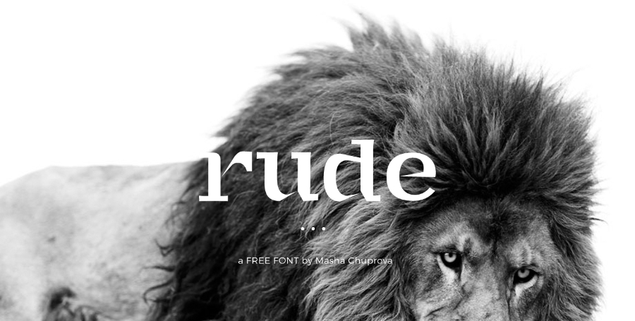 rude-display-free-typeface