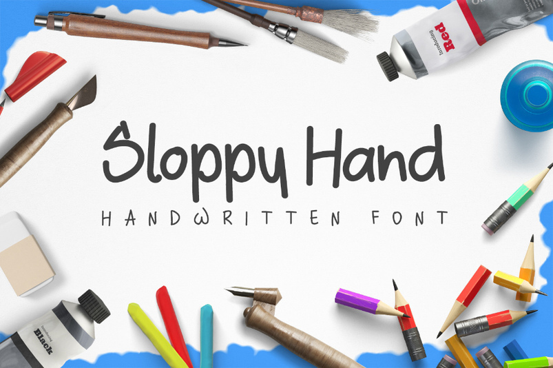 sloppy-hand-free-typeface-2