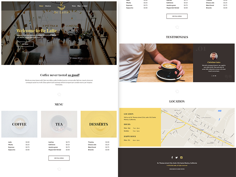 be-latte-coffee-shop-free-psd-web-template