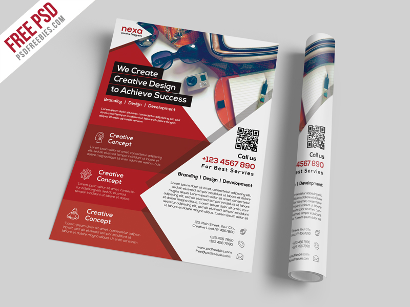 50 business corporate flyer psd templates with attractive layout business and corporate flyer template free psd accmission Gallery