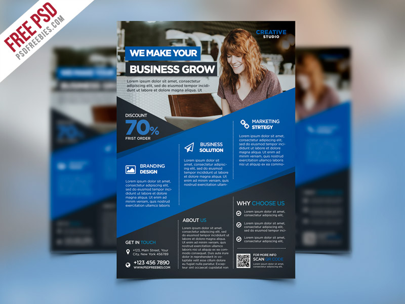 50 business corporate flyer psd templates with attractive layout this digital agency advertising flyer psd template is best for promoting your business services as well about your company organization agency with a accmission Images