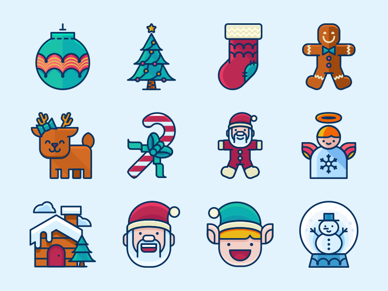 free-christmas-icons-pack