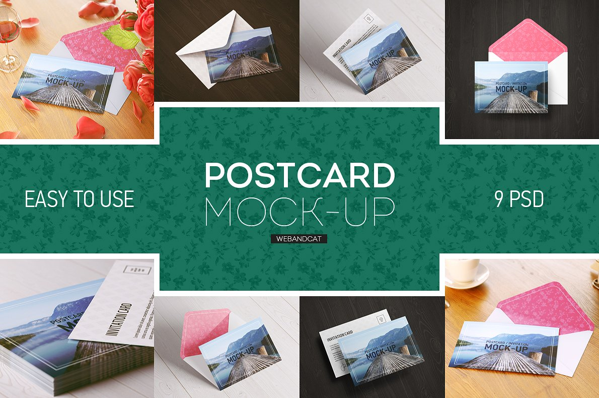40 Best Greeting Invitation Card Mockups For Graphic