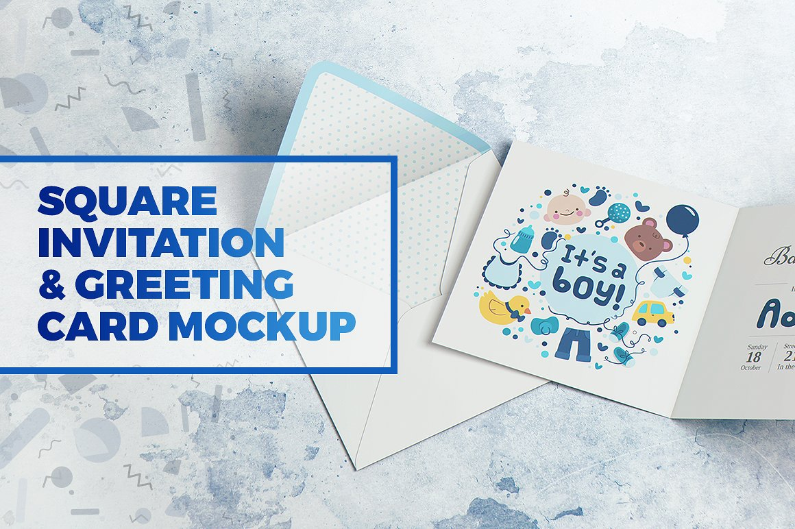 40 best greeting invitation card mockups for graphic designers square invitation greeting mockup stopboris Image collections