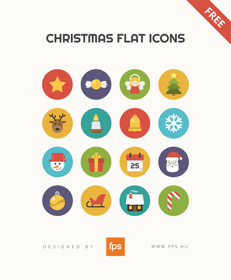 christmas-flat-icons-set-psd