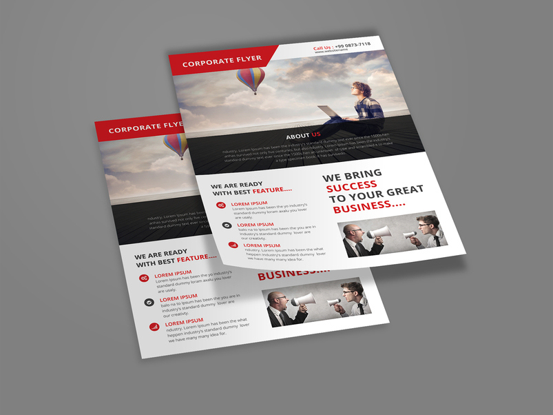Business  Corporate Flyer Psd Templates With Attractive