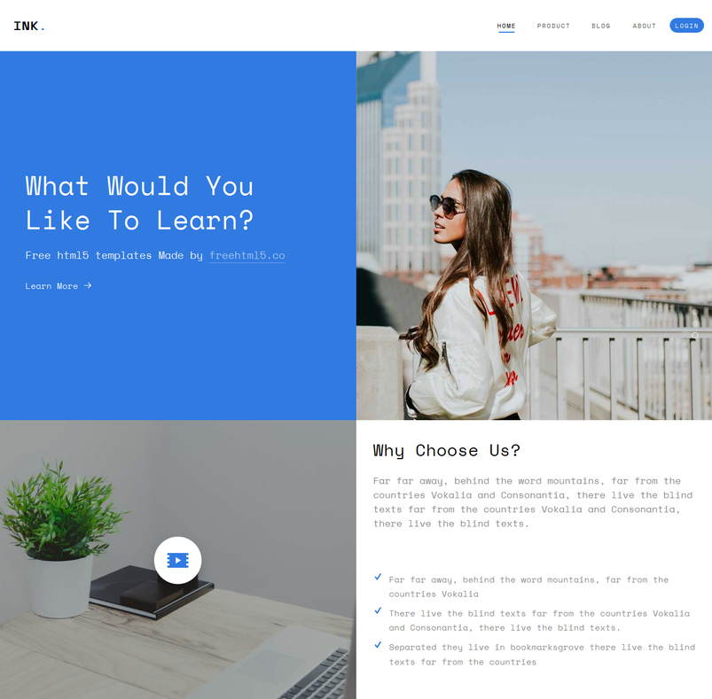 Latest html5 website templates 11 designazure ink is a free html5 bootstrap and a multi purpose template perfect for any type of websites a combination of a minimal and modern design template maxwellsz