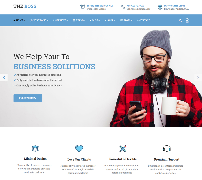 Latest html5 website templates 11 designazure the boss is cleanelegant and modern corporate and business html template that can be used as a business and corporate template flashek Gallery