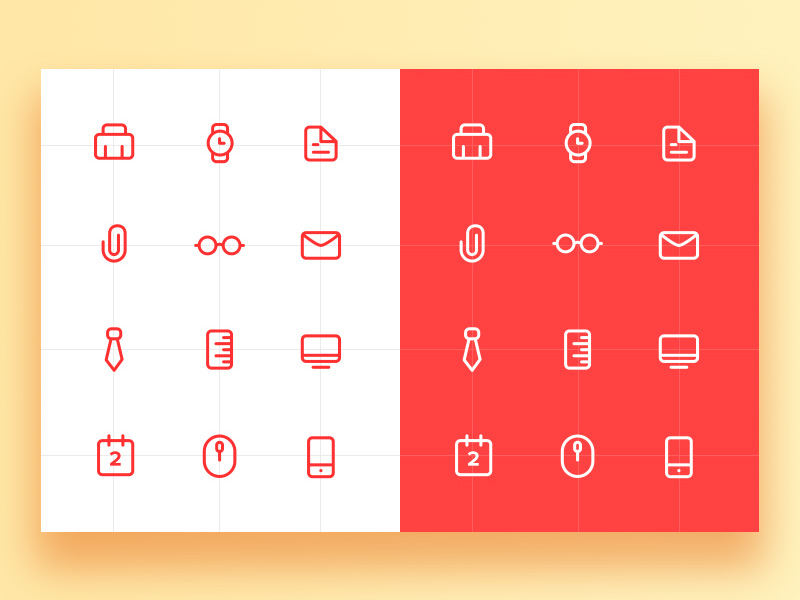 work-icon-set-freebie