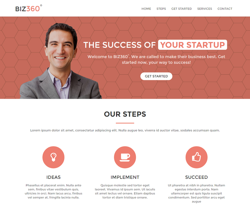 Latest html5 website templates 12 designazure biz360 business landing page is a free responsive landing page which mainly designed for corporate and business websites this template is created accmission Gallery