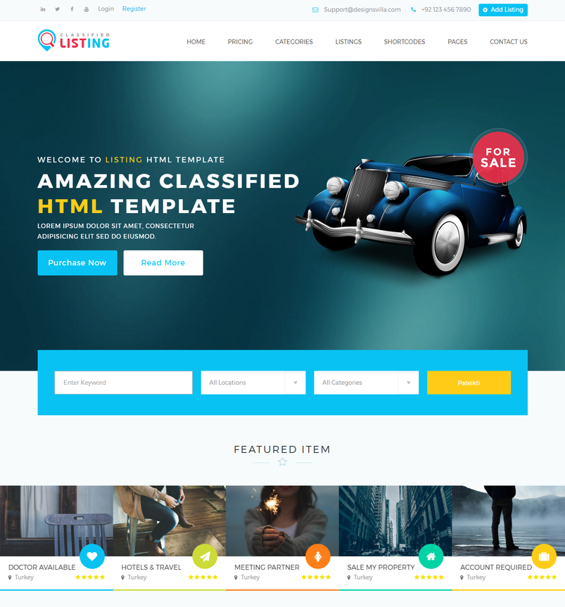Listing classified ads directory html template 2 designazure listing classified ads directory html template 2 maxwellsz