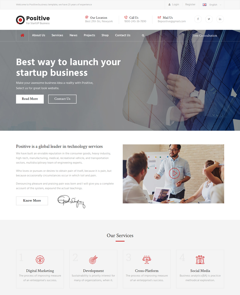 Charming Business Html Template Pictures Inspiration - Examples ...