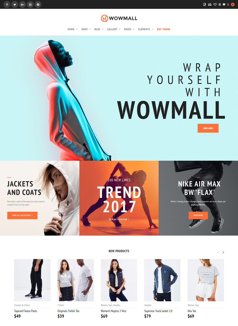 21 neat, clean \u0026 responsive wordpress themes of 2017 designazure comwowmall \u2013 fastest wordpress woocommerce theme