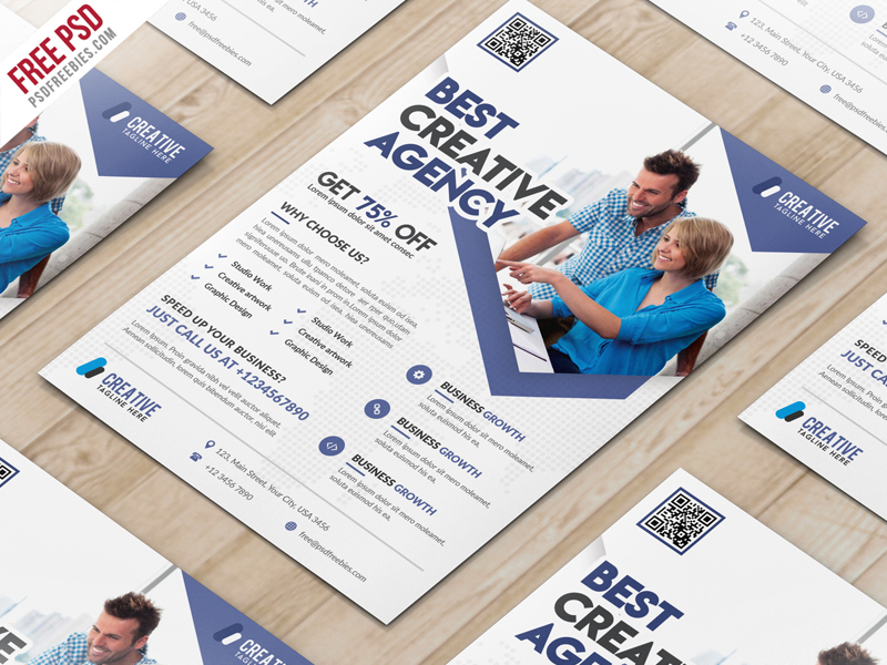 50 business corporate flyer psd templates with attractive layout business marketing flyer free psd template new accmission Image collections