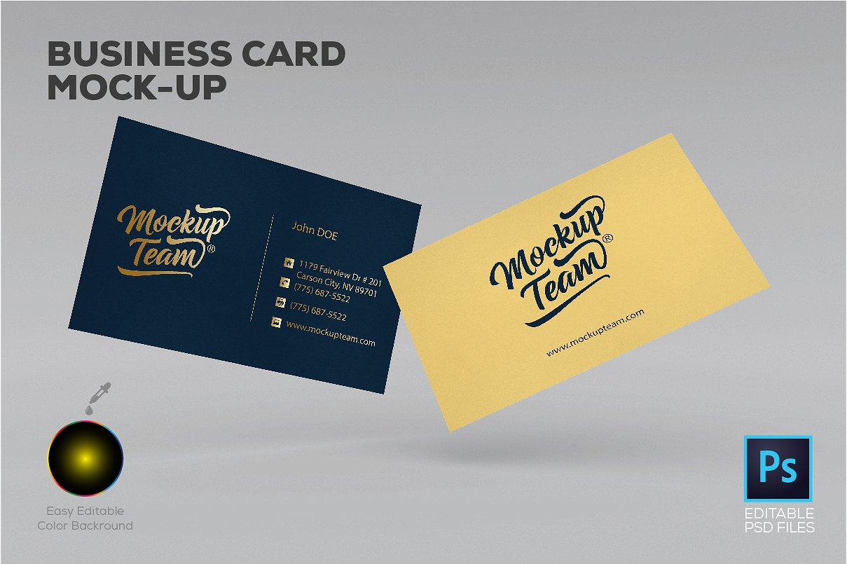 Psd business card mockup templates designazure business card mockup template new wajeb Image collections