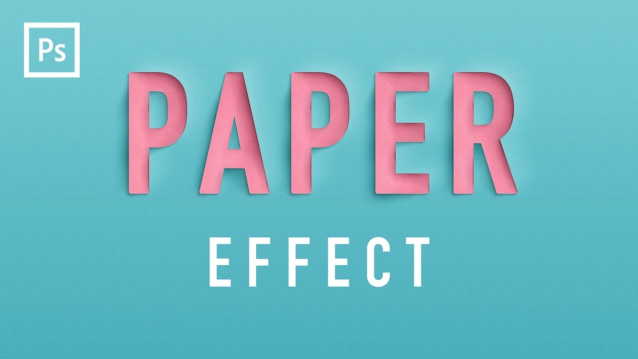 31 free text effect tutorials designazure learn how to create a paper cutout text effect in photoshop baditri Images