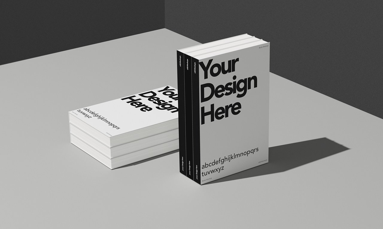 Simple Book Cover Design Psd ~ Useful realistic cover mockups for books