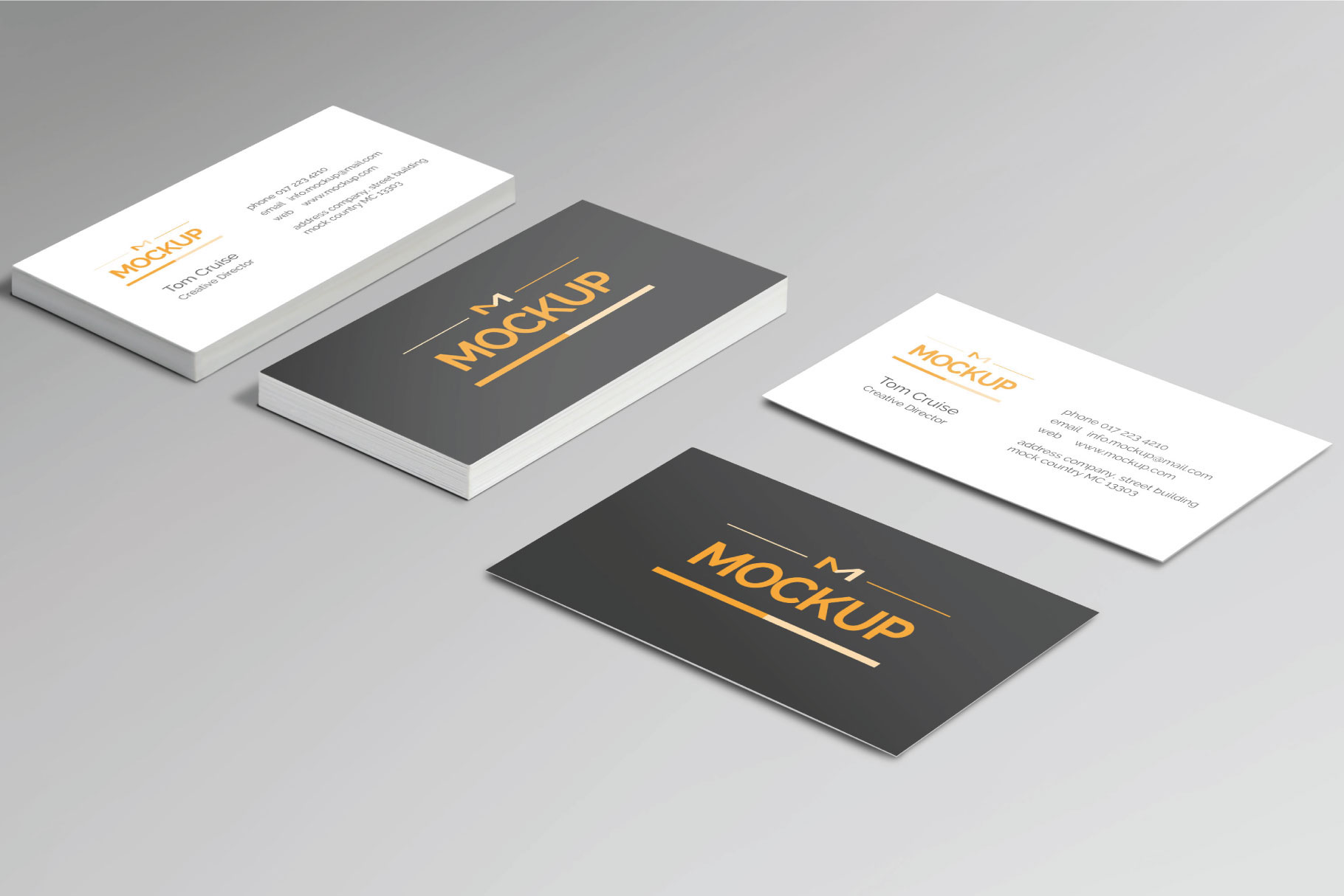 Psd business card mockup templates designazure 6 style business card mockups new reheart Images