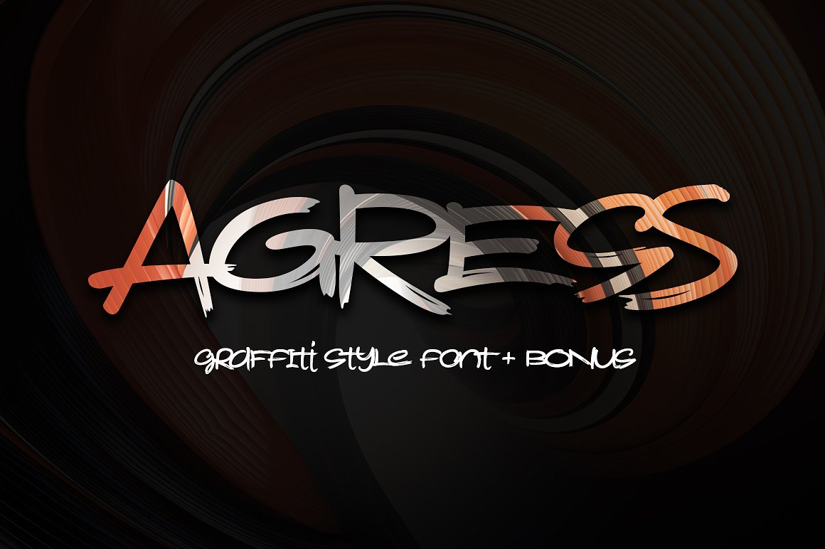 Presenting a graffiti style font with multilingual support it also includes a bonus graphics 6 high resolution abstract images 6000x6000px in layered psd
