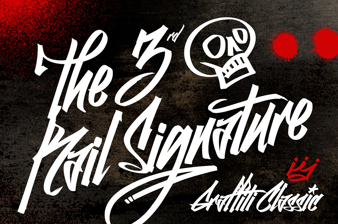 Graffiti classic is a graffiti font that blends the improvisational urban quality of graffiti with the smoothness and regularity of a typeface